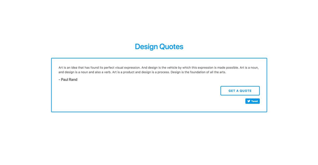 Design Quotes website image